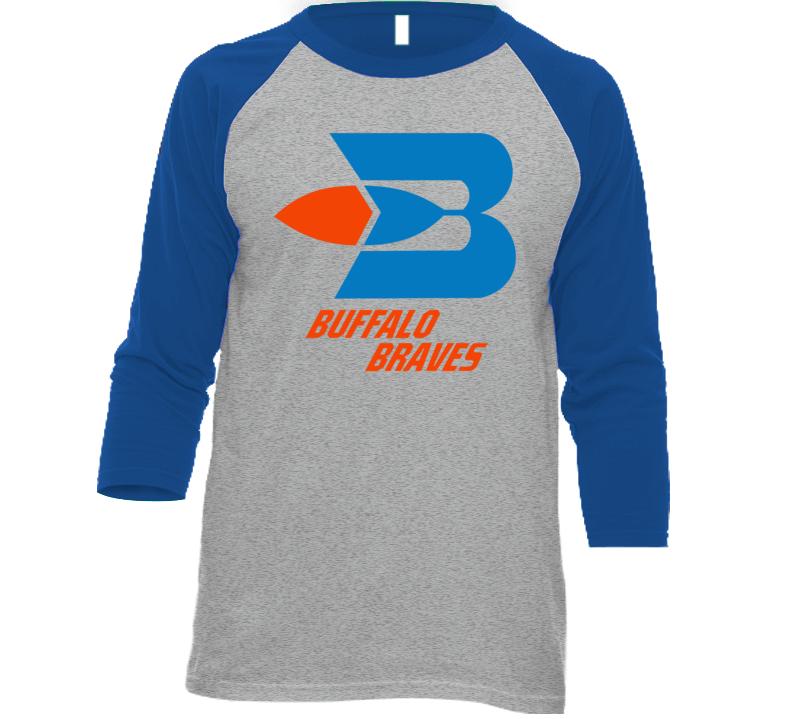 Buffalo Braves Retro 70's Basketball Retro Baseball Raglan T Shirt