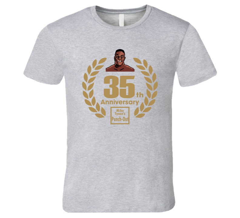 Mike Tyson's Punch Out 35th Anniversary Retro Video Game T Shirt