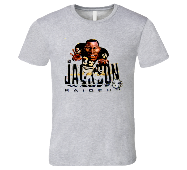 Bo Jackson Retro Caricature Football Oakland T Shirt