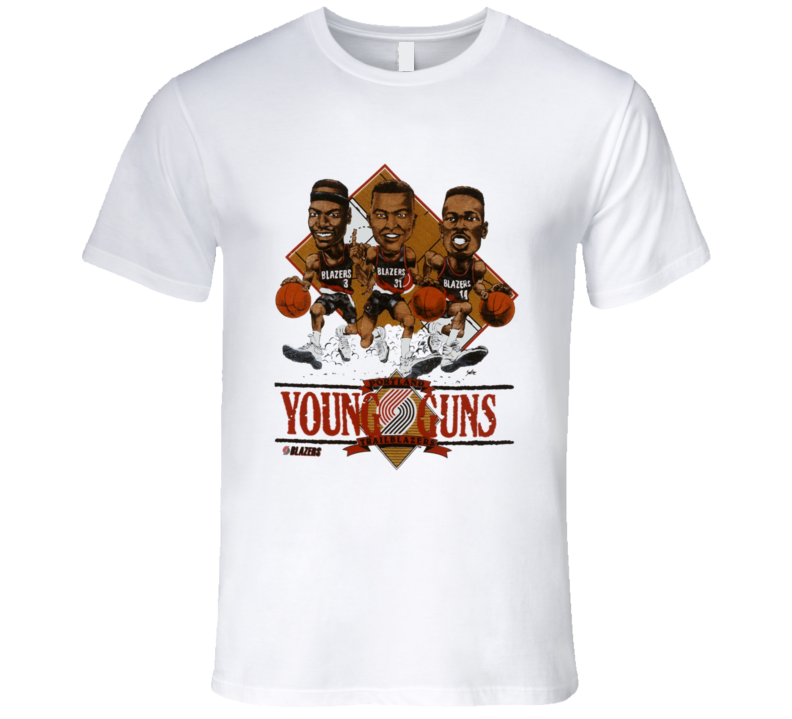 Portland  Basketball Retro 90's Caricature T Shirt