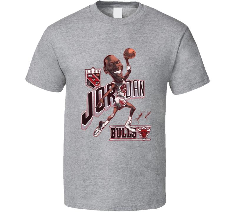 Michael Jordan Basketball Jordan 23 Retro Caricature T Shirt