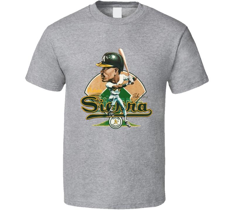 Ruben Sierra Oakland Baseball Retro Caricature T Shirt