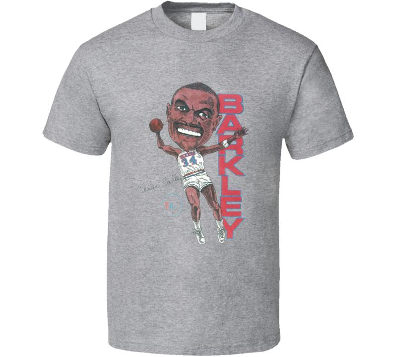 Charles Barkley Philadelphia 80's Retro Basketball Caricature T Shirt