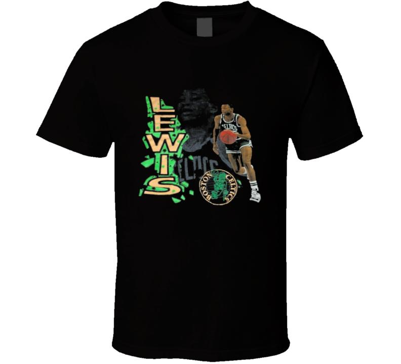 Reggie Lewis Boston Baseketball Legend Retro T Shirt