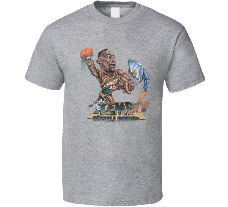 Shawn Kemp Retro 90's Seattle Basketball Legend Caricature T Shirt