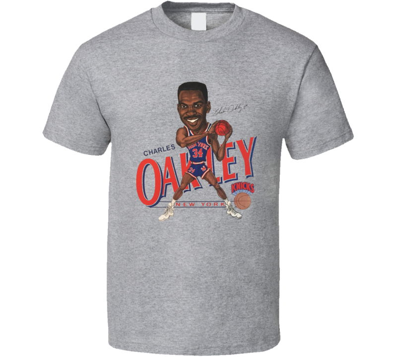 Charles Oakley Retro New York Basketball Legend Caricature T Shirt