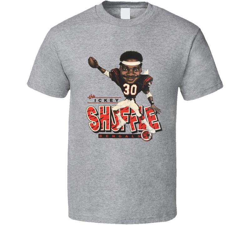 Elbert Ickey Woods Shuffle Cincinnati Football Caricature T Shirt