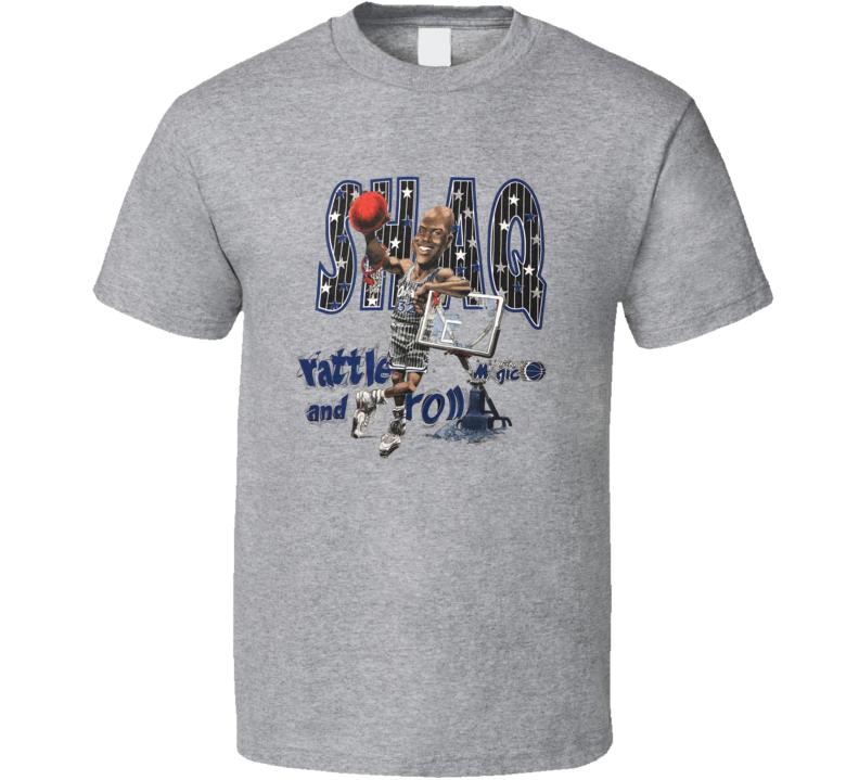 Shaquille O'neil Orlando Retro Basketball Caricature T Shirt