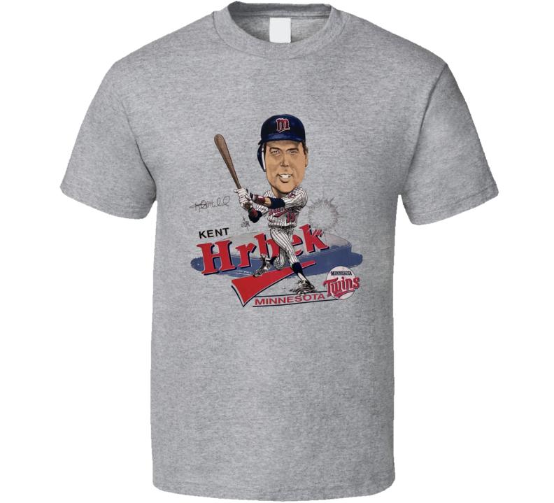 Kent Hrbek Retro Minnesota Baseball Caricature T Shirt