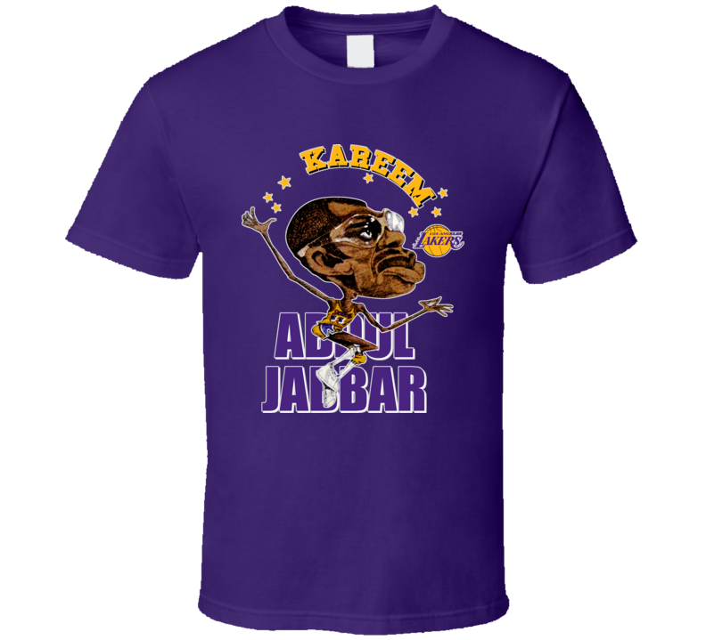 Kareem Abdul Jabbar Basketball Caricature T Shirt