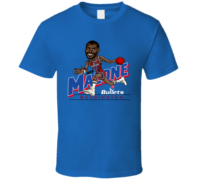 Jeff Malone Retro Basketball Caricature T Shirt