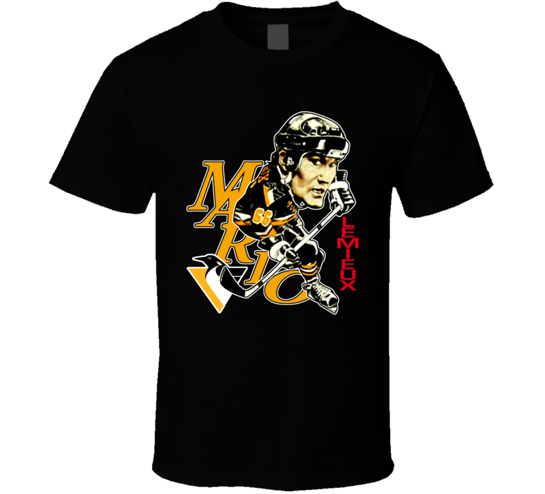 Mario Lemieux Retro Hockey Caricature T Shirt