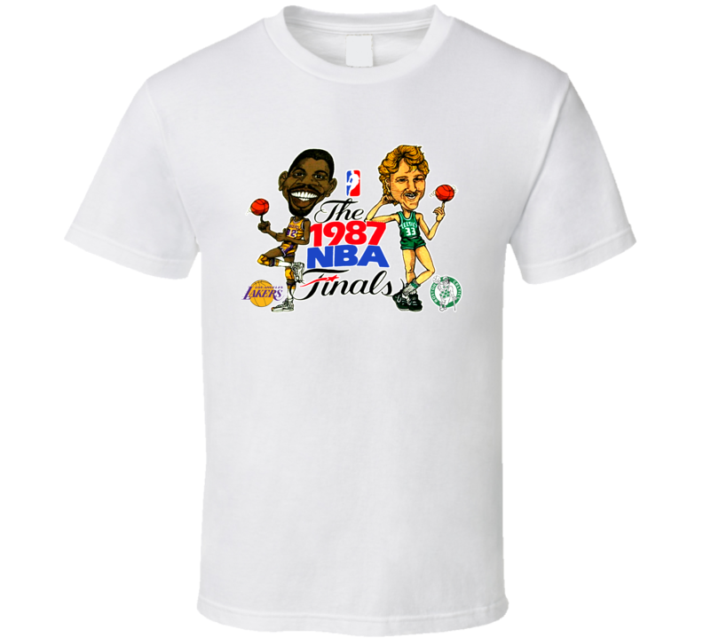 Larry Bird Magic Johnson Retro T Shirt