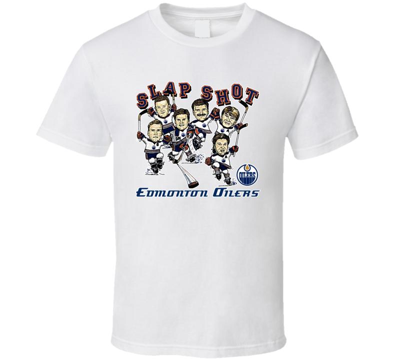 Edmonton Retro Hockey Caricature T Shirt