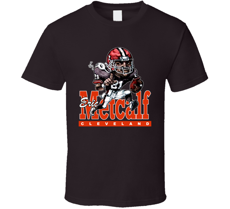 Eric Metcalf Retro Football Caricature T Shirt