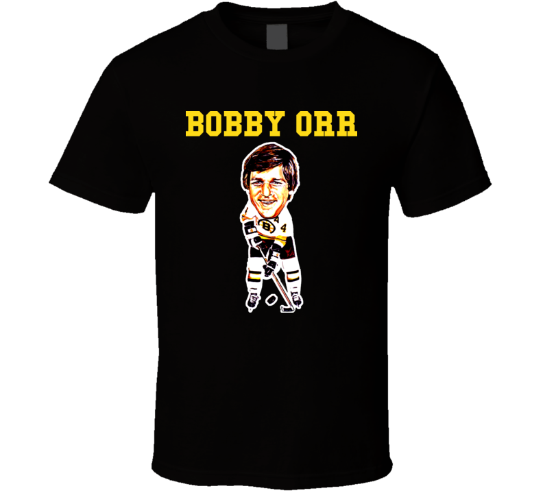 Bobby Orr Retro Hockey Caricature T Shirt