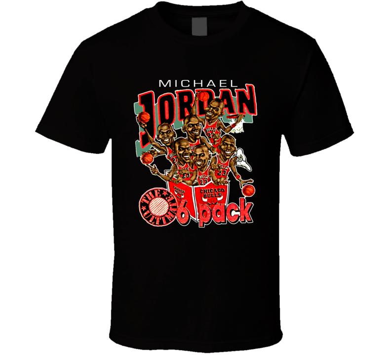 Michael Jordan Chicago Caricature T Shirt