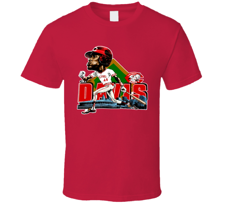 Eric Davis Retro Baseball Caricature T Shirt