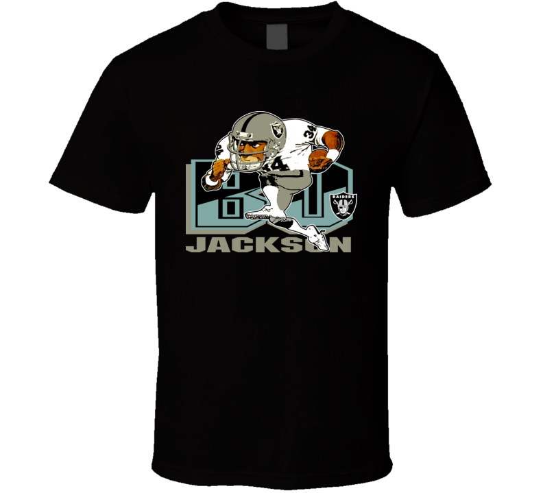 Bo Jackson Retro Football Caricature T Shirt