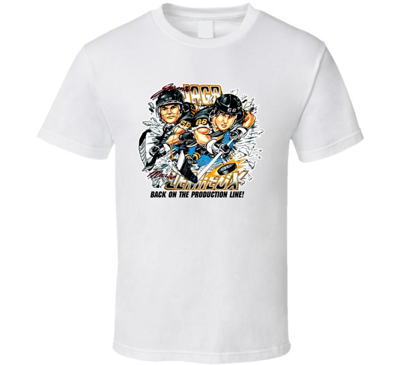 Mario Lemieux Jagr Retro Hockey Caricature T Shirt