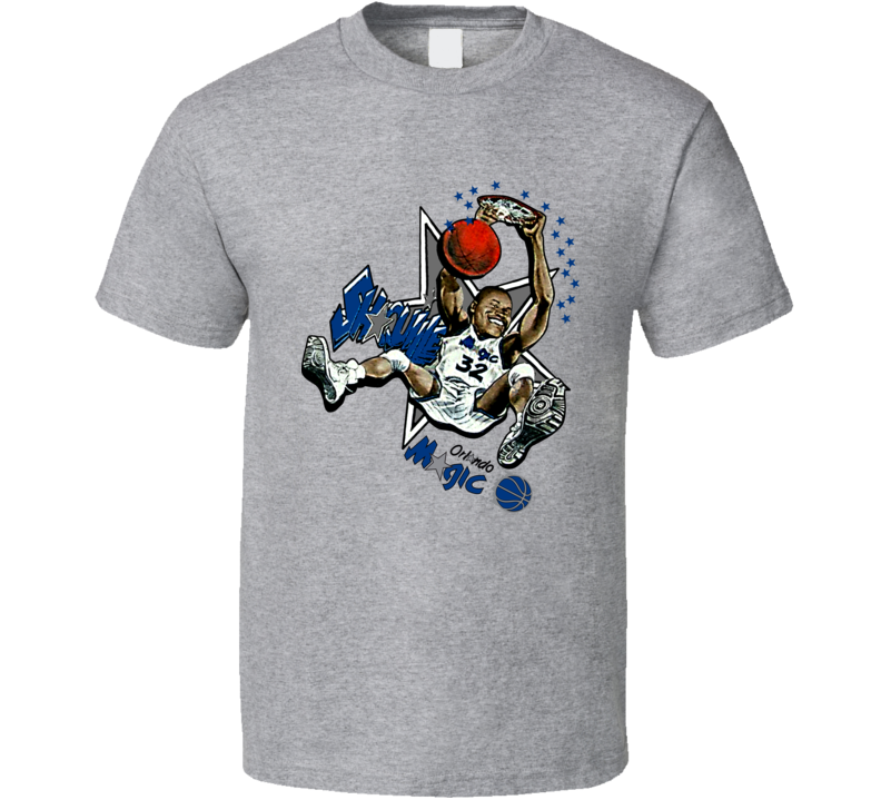 Shaquille Oneal Retro Basketball Caricature T Shirt