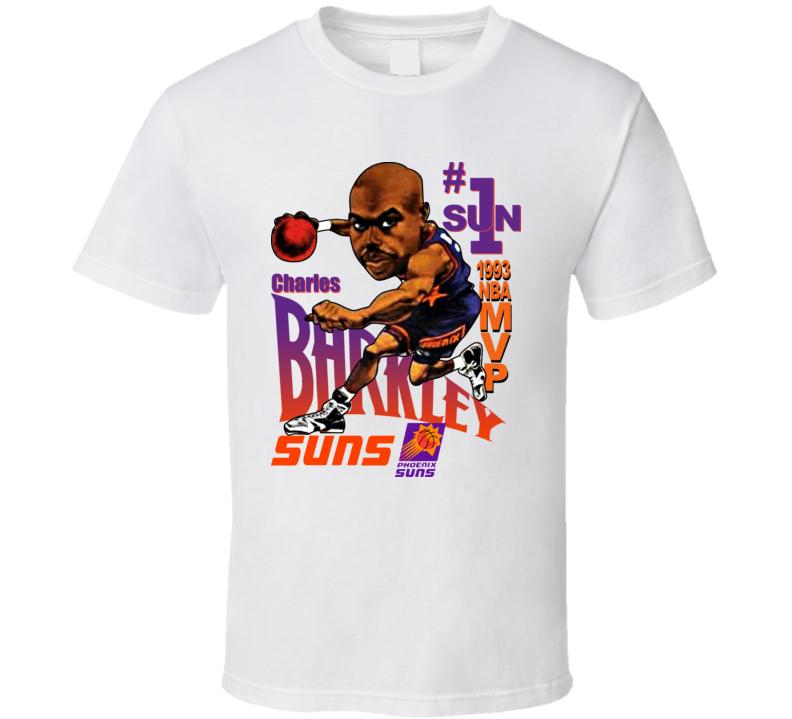 Basketball Charles Barkley Caricature T Retro Shirt kXZPiTuO