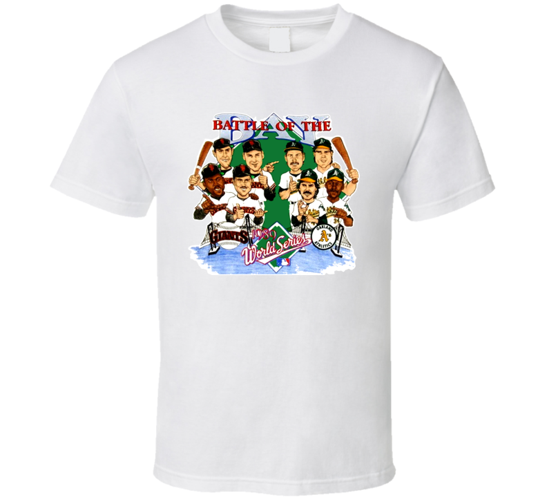 San Francisco Oakland Baseball Retro Caricature T Shirt