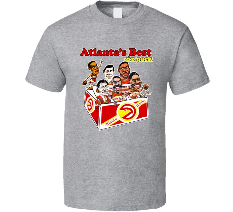 Atlanta Basketball Retro Caricature T Shirt