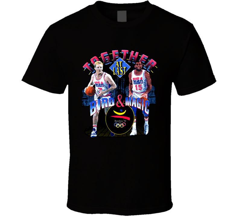 Larry Bird Magic Johnson Dream Team T Shirt