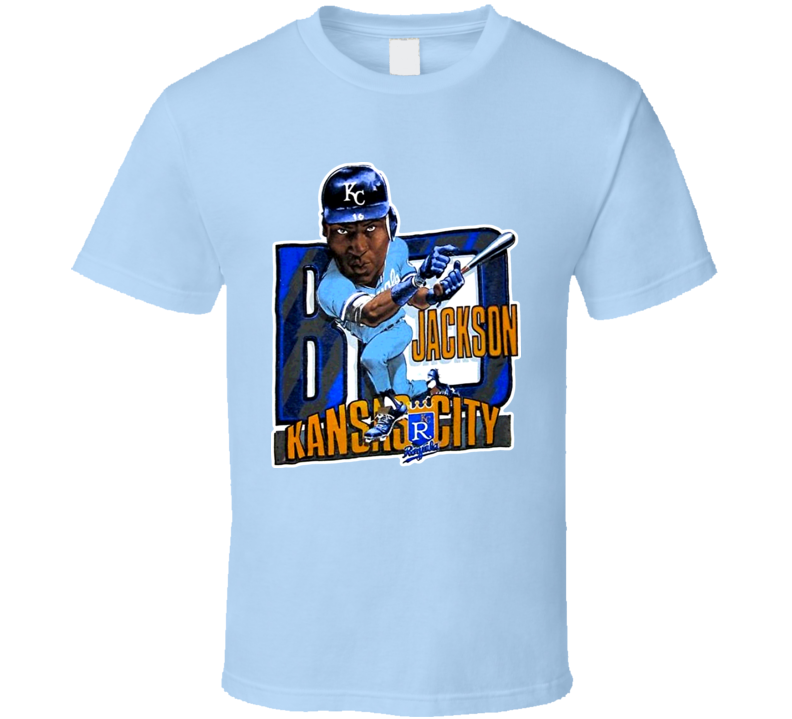 Bo Jackson Retro Baseball Caricature T Shirt