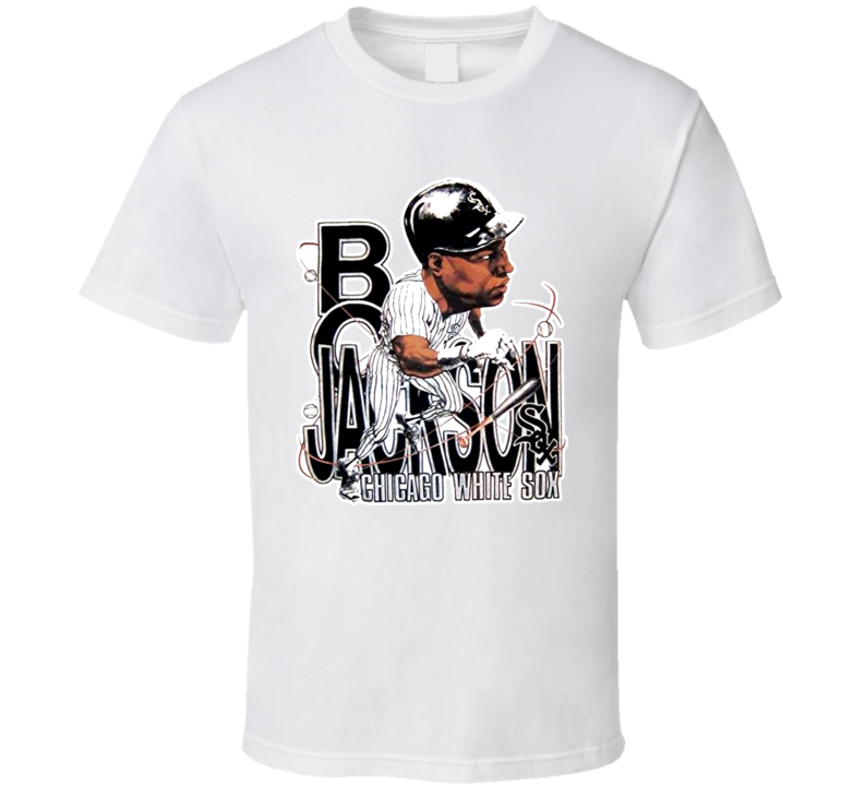 Bo Jackson Chicago Retro Baseball Caricature T Shirt