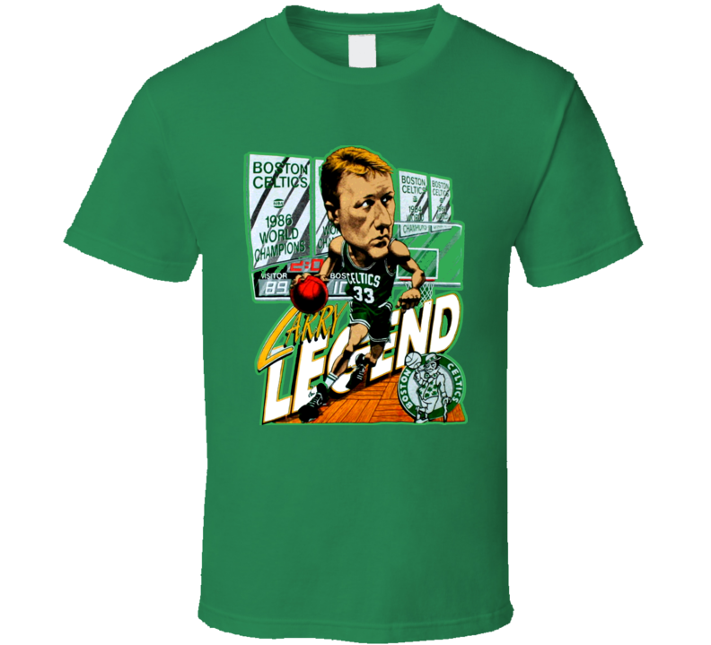 Larry Bird Basketball Legend Caricature T Shirt