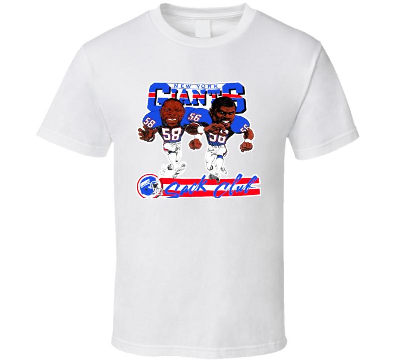 New York Football Retro Caricature T Shirt