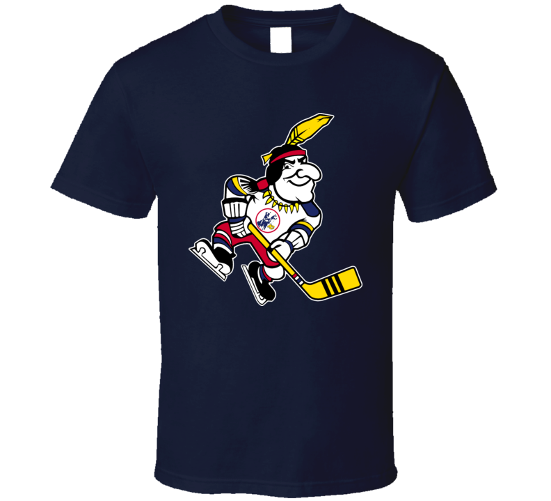 Kansas City Scouts Mascot Retro Hockey T Shirt