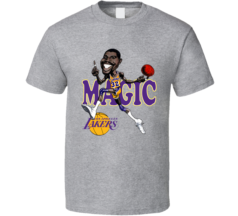 Magic Johnson Retro Caricature T Shirt