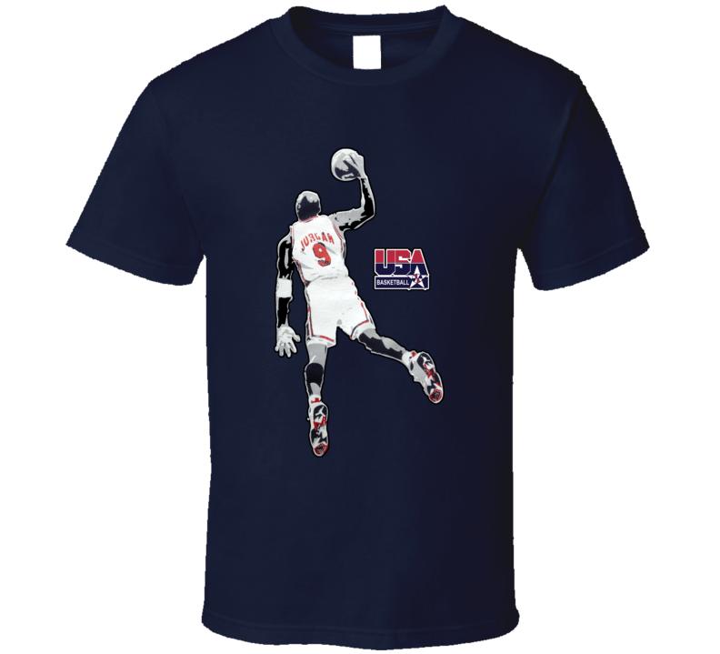 Michael Jordan USA Basketball Olympics T Shirt