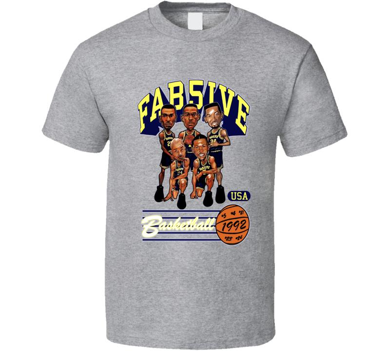 Fab Five Michigan Retro Caricature T Shirt