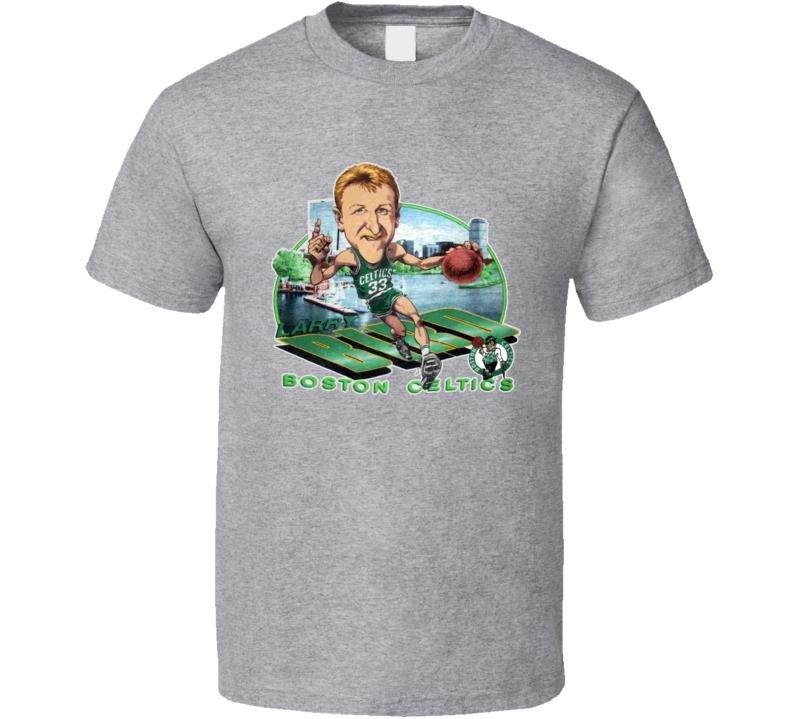 Larry Bird Larry The Legend Basketball Caricature T Shirt