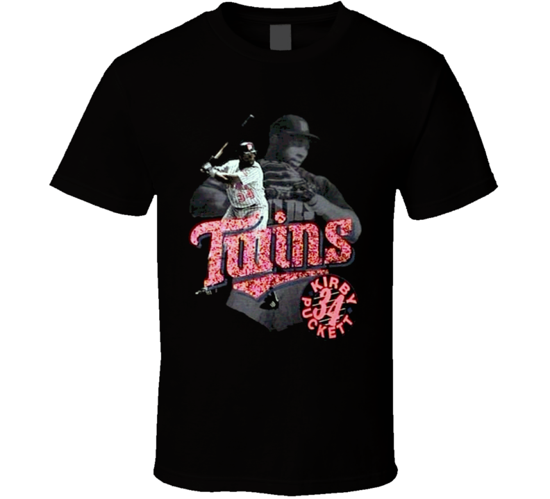 Kirby Puckett Baseball Legend Retro T Shirt