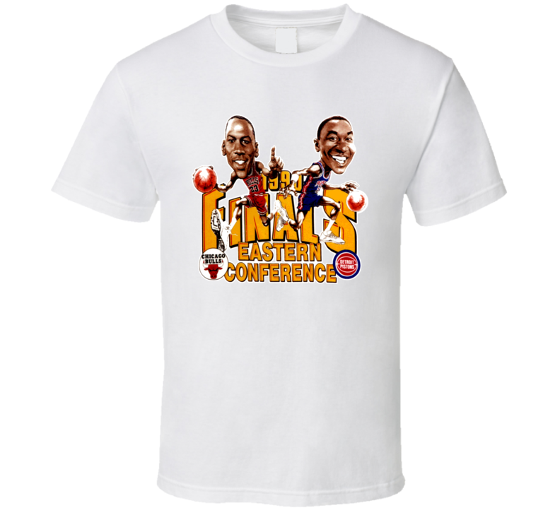 1990 Eastern Basketball Final Jordan Isiah Caricature T Shirt
