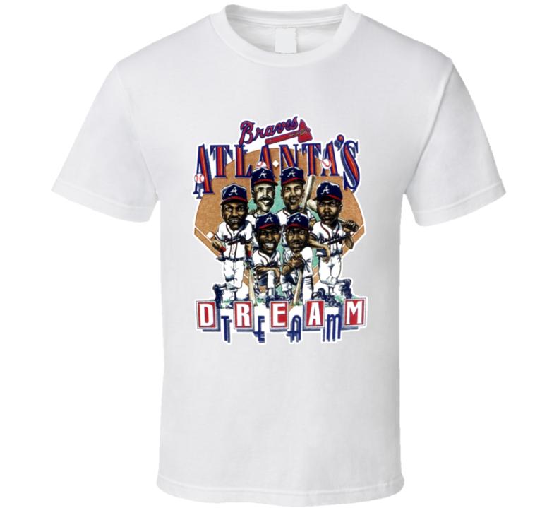 Atlanta Baseball Retro Caricature T Shirt