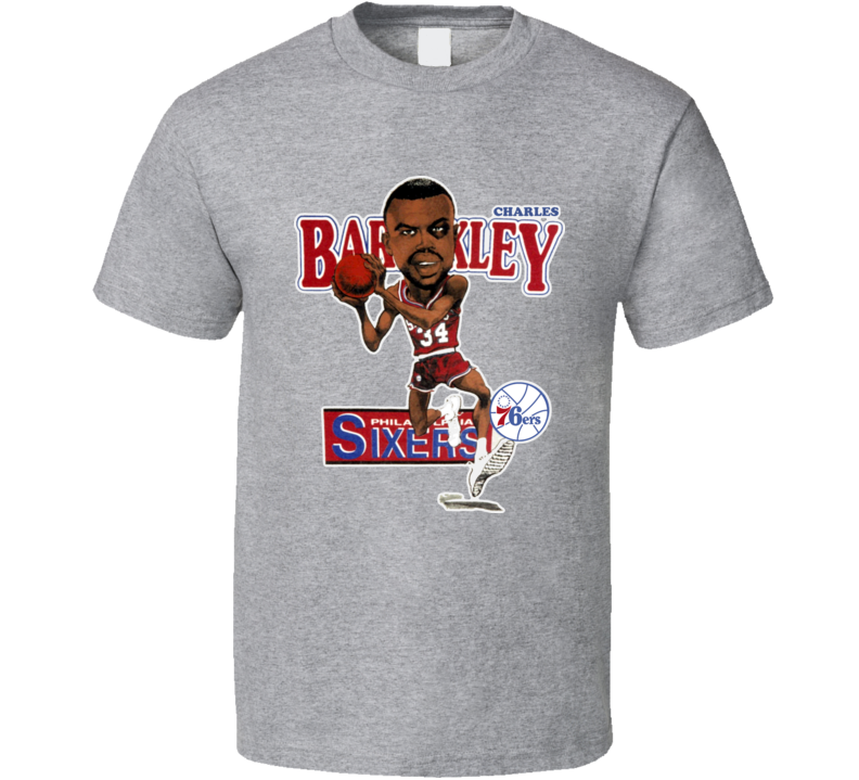 Charles Barkley Philadelphia Baskeball Caricature T Shirt