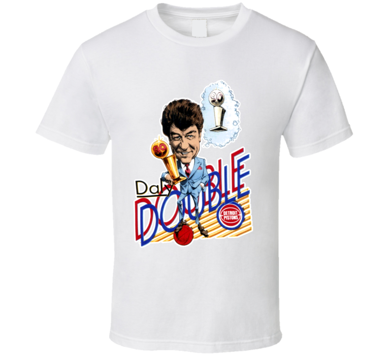Chuck Daly 1989 Detroit Basketball Caricature T Shirt