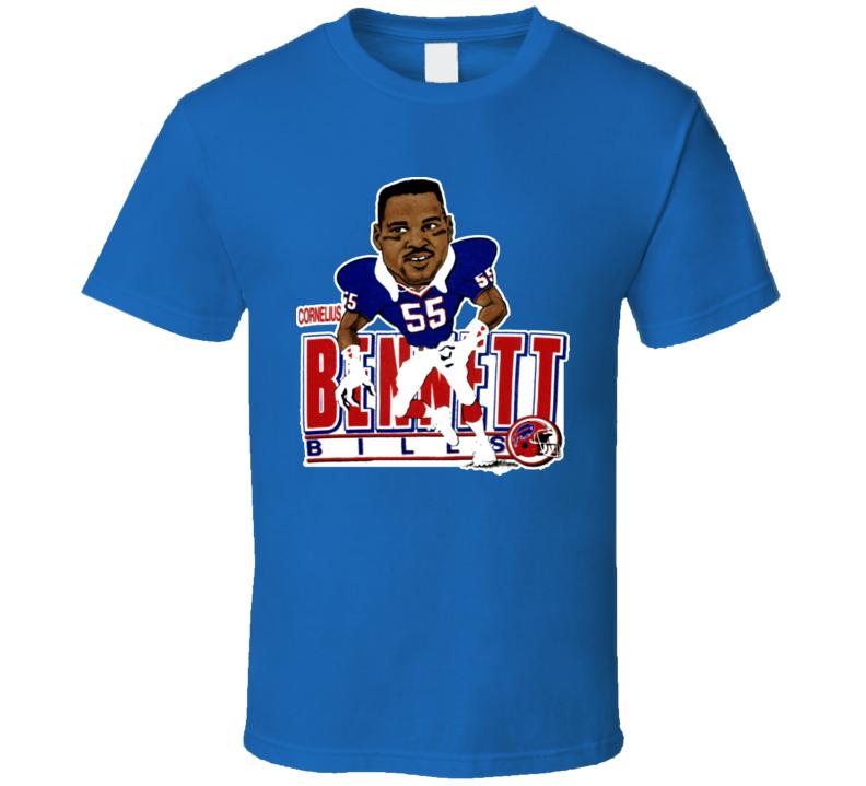 Corneilius Bennett Retro Football Caricature T Shirt