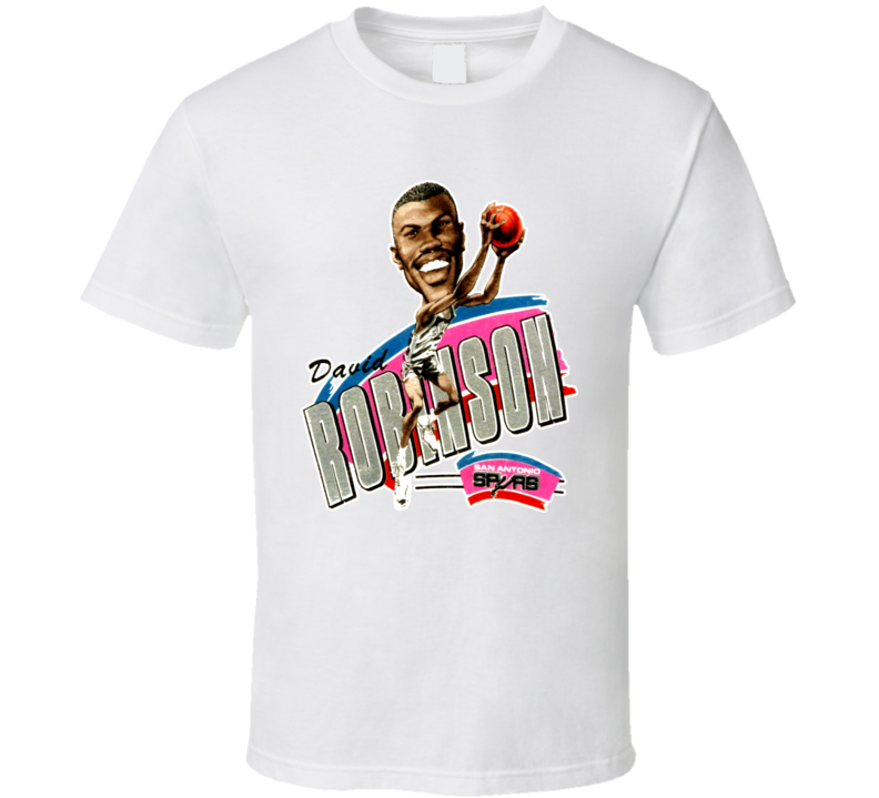 David Robinson San Antonio Basketball Caricature T Shirt