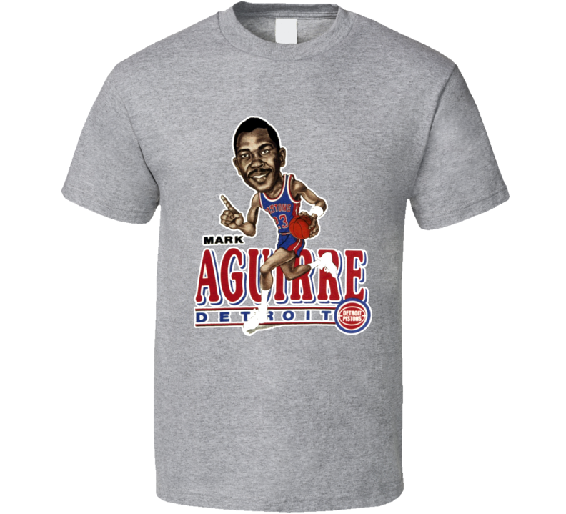 Mark Aguirre Retro Basketball Caricature T Shirt