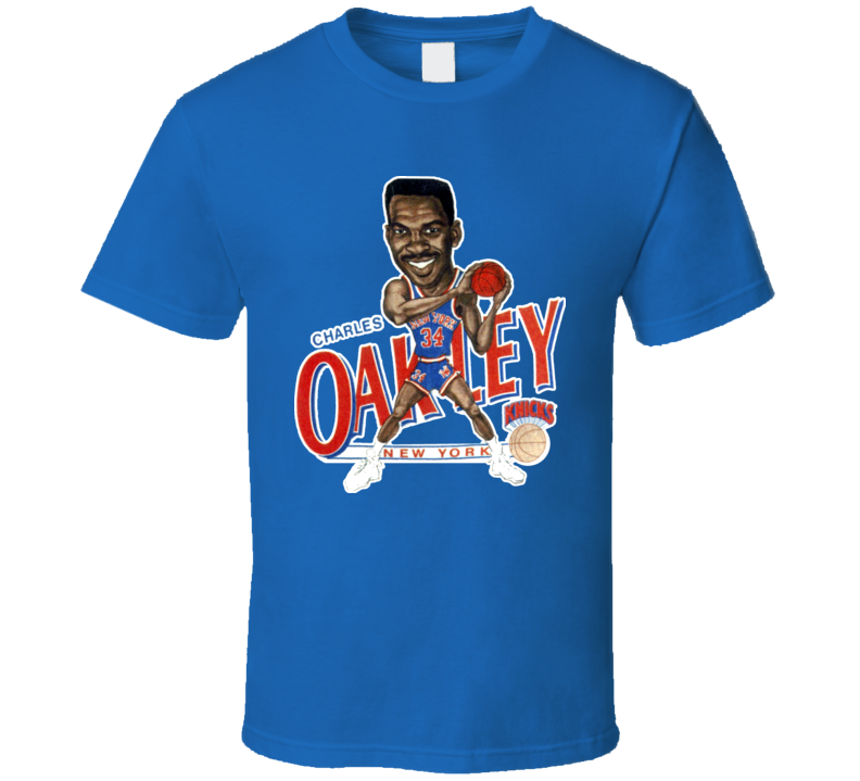Charles Oakley New York Basketball Caricature T Shirt