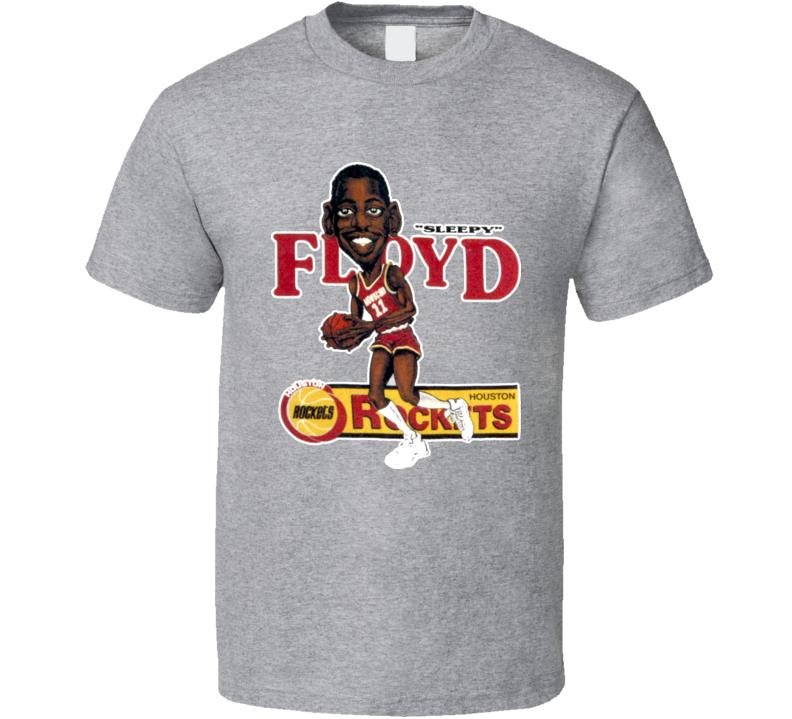 Eric Sleepy Floyd Retro Basketball Caricature T Shirt