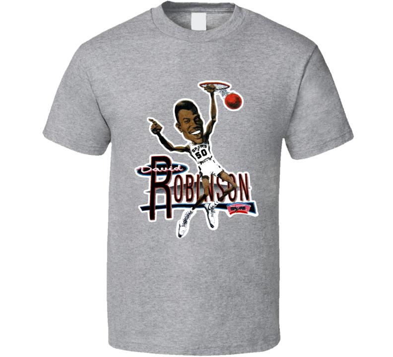 David Robinson San Antonio Basketball Caricature T Shirt