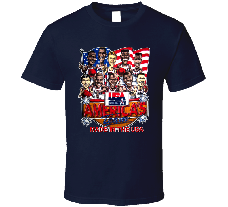 USA Basketball 1992 Dream Team Caricature T Shirt